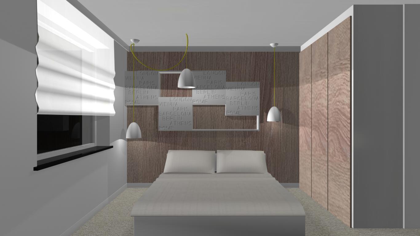 nowoczesna sypialnia aranżacje projekty