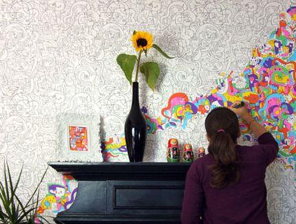 gruba tapeta na ściane