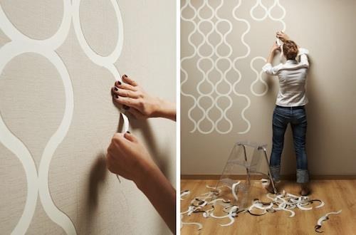 tapeta na nierówne ściany