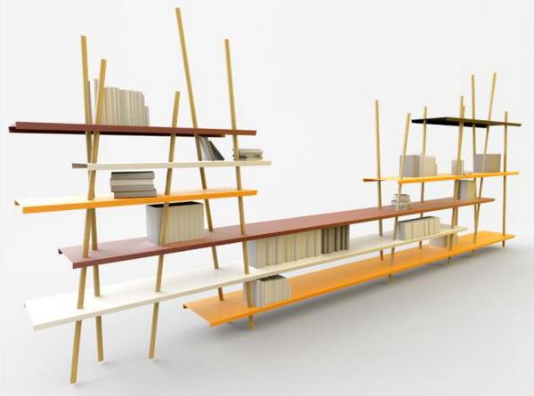 wąskie półki na książki